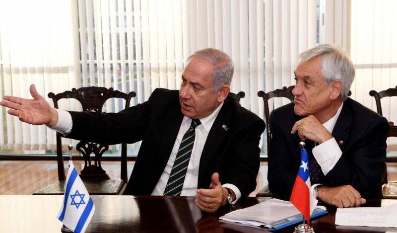 El primer ministro Benjamin Netanyahu y Sebastián Piñera en Israel