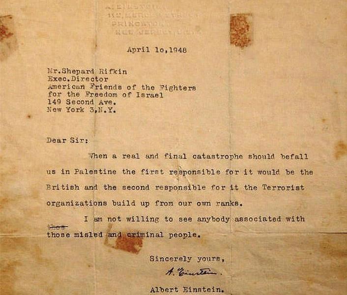 Carta Albert Einstein