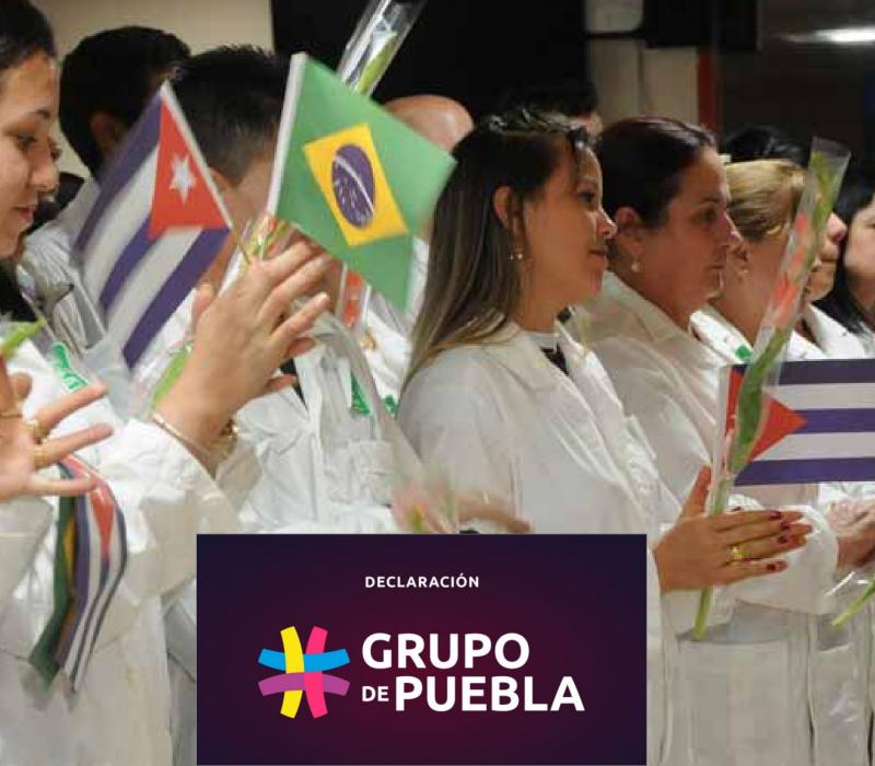 Grupo de Puebla sobre denuncia a programa Mais médicos